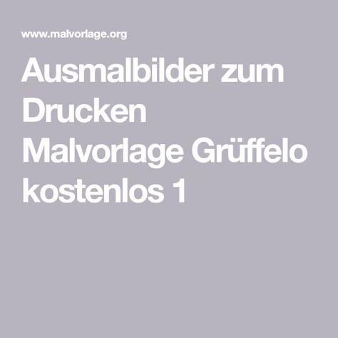 Ausmalbilder zum Drucken Malvorlage Grüffelo kostenlos 1