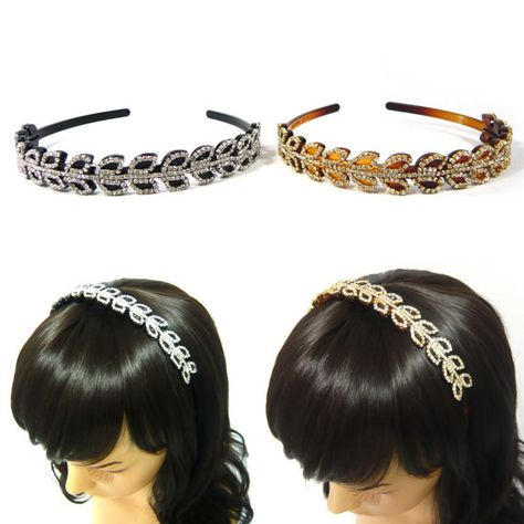 Women Girl Fashion Crystal Rhinestone Head Jewelry Headband Headpiece Hair Band