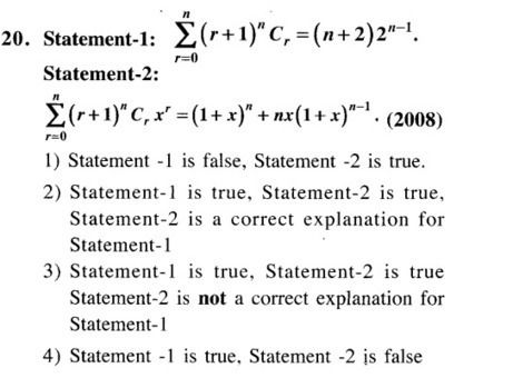 Jee Main Previous Year Papers Questions With Solutions Maths Binomial Theorem And Mathematical I Mathematical Induction Binomial Theorem This Or That Questions