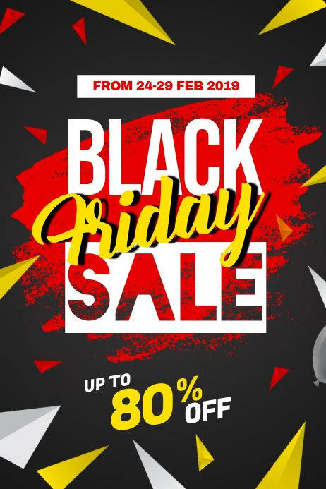 Black Friday Sale Discount Poster Flyer Template In 2020 Black Friday Flyer Black Friday Flyer