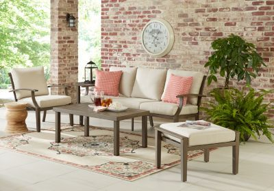 Waterfront Bronze 4 Pc Outdoor Seating Set Patio Furniture For