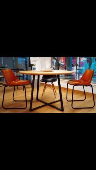 Mesa de 80 cm de madera maciza redonda de segunda mano por ...