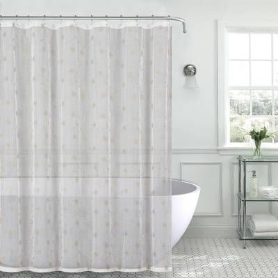 Berrnour Home Venice Clear Heavy Duty 10 Gauge Vinyl Single Shower Curtain Reviews Wayfair Fabric Shower Curtains Shower Curtain Decor Curtains