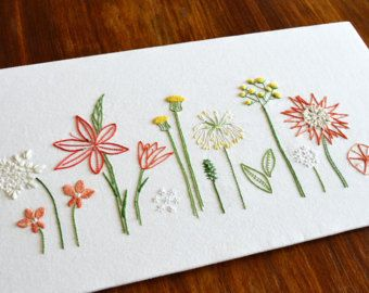 Wild Coral hand embroidery pattern, modern embroidery, nature, ocean