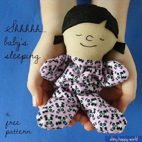 Free Pattern - Tiny Sleepy Baby Doll from Shiny Happy World
