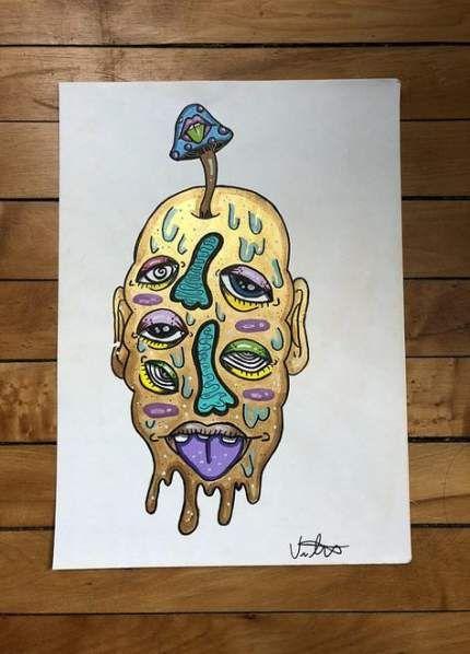 Drawing Trippy Mushroom 47 Trendy Ideas Psychedelic Drawings Hippie Art Psychedelic Art