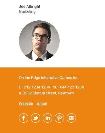 Email Signature Examples (Understated Orange) | Graphic Design ...