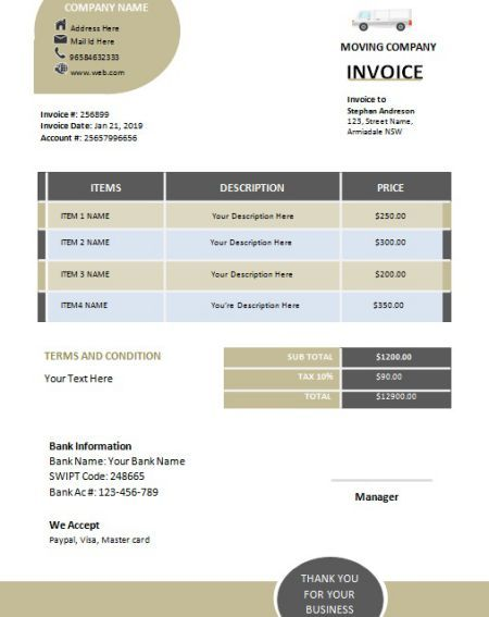 Moving Company Invoice Template Bill Your Clients In An Effective Way 5 Free Invoicing Templates Template Sumo Invoice Template Moving Company Invoicing