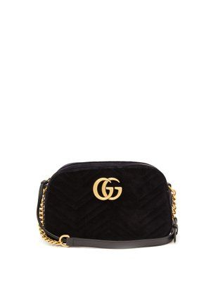 52a90cf8c GG Marmont small quilted-velvet cross-body bag | Gucci | MATCHESFASHION.COM  US