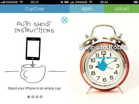 Create 360 product photos with your aiphone, a cup and the Cupchair app.
