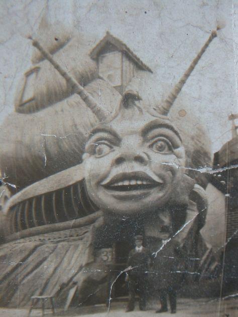 The Haunted Snail Ride at Dreamland, Margate, UK Circa 1920s