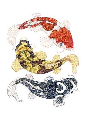 Koi Fish Drawing, Fish Drawings, Pez Koi Tattoo, Tattoo Ink, Arm Tattoo, Coi Fish, Koi Kunst, Watercolor Fish, Watercolor Paper