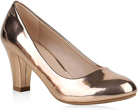 Tamaris Damen 22426 Pumps, Pink (Rose Metallic 952), 39 EU