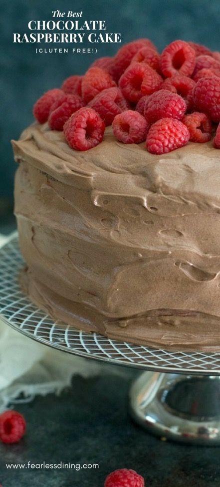 Phenomenal This Easy Gluten Free Chocolate Raspberry Layer Cake Makes An Personalised Birthday Cards Arneslily Jamesorg