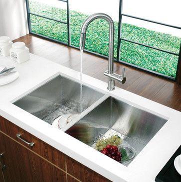 Sleek Kitchen Sink Ideas To Decorate Modern Countertop Best Home Remodel Wastafel Dapur Jendela