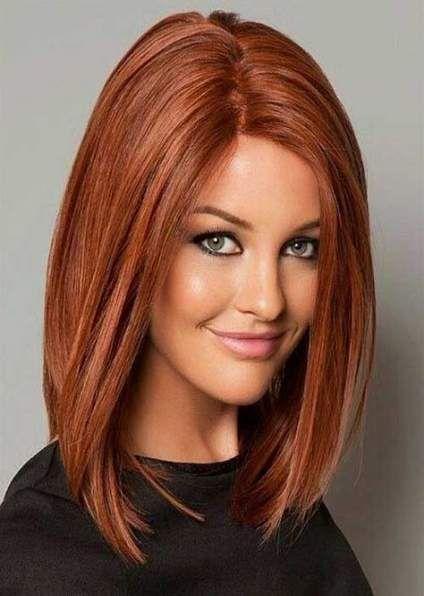 Hair Red Medium Length Hairstyle For Women 47 Super Ideas Oval Face Haircuts Long Bob Hairstyles Medium Hair Styles
