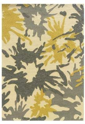 Wrought Studio Frasher Hand Tufted Yellow Gray Indoor Outdoor Area