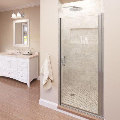 Basco Infinity 28 X 76 Pivot Frameless Shower Door Trim Finish