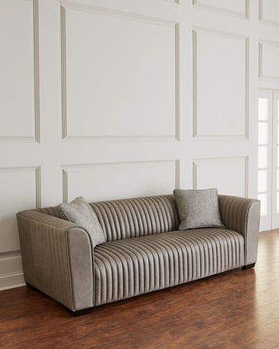 Marvelous Bernhardt Kent Leather Channel Tufted Sofa In 2019 Tufted Forskolin Free Trial Chair Design Images Forskolin Free Trialorg