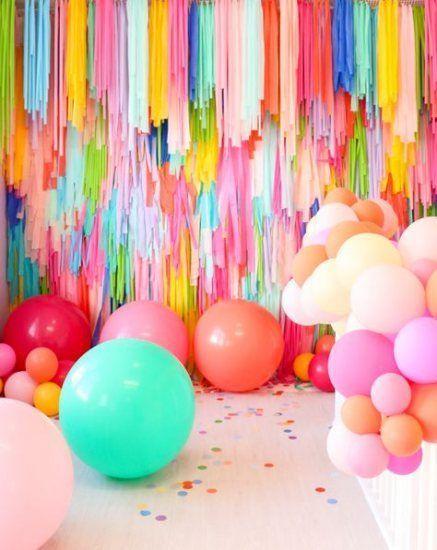 "VINYL TABLECLOTH  52/"" X 90/"" HAPPY BIRTHDAY PARTY DECORATIONS BALLOONS STREAMERS"