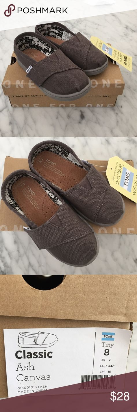Toms Shoes 80% OFF!> Tiny Toms classic canvas Toms classic canvas in ash. Toddler size 8. New with tags and from a smoke free home. TOMS Shoes Baby  Walker #Toms #Tomsshoes #shoes #style #Accessories #shopping #styles #outfit #pretty #girl #girls #beauty #beautiful #me #cute #stylish #design #fashion #outfits #diy #design