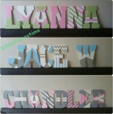 Painting Wood Letters Designs Canvases 61 Trendy Ideas Painted Wood Letters Painting Wooden Letters Wooden Letters Decorated