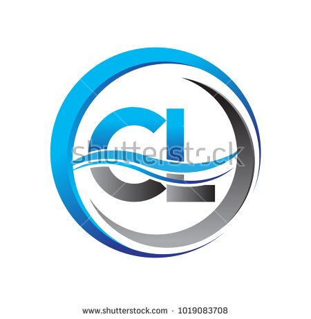 Initial Letter Logo Cl Company Name Blue And Grey Color On Circle