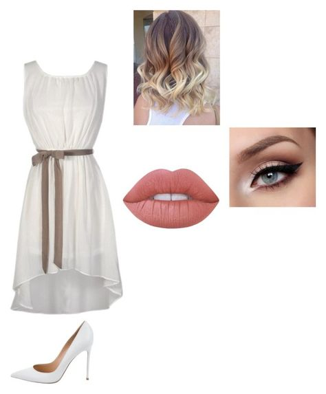 """Untitled #202"" by cheyennehester ❤ liked on Polyvore featuring Gianvito Rossi and Lime Crime"