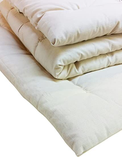 White Lotus Home Wool Mattress Topper With 100 Organic Twill Outer Case X Large Twin Off White In 2020 Mattress Topper Wool Mattress Mattress