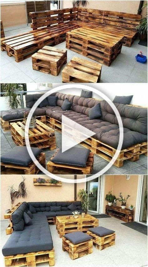 50 Wonderful Pallet Furniture Ideas And Tutorials Bank Und Hocker Aus Europaletten Terasse Balkon Garten Mobel Europal Diy Garden Seating Decor Rustic Diy