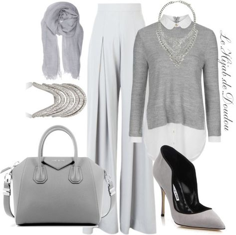 Hijab Outfit love love monochromatic outfits!