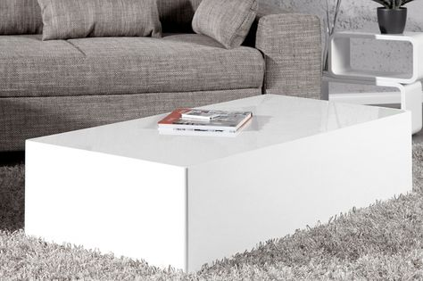 Salontafel Blok Wit.Pinterest France
