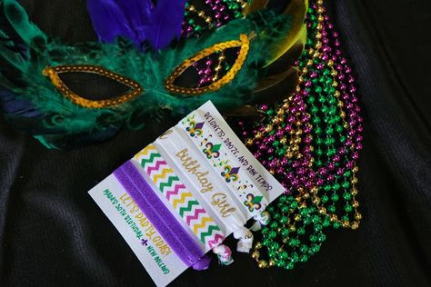 Customized Hair Tie Party Favors From Gray Duck Greetings Click Or Visit FabEveryday For Details Plus More Ideas And Inspiration A New Orleans