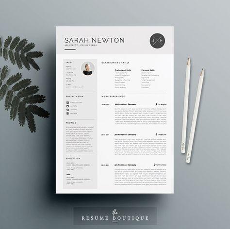 Reprendre la lettre de motivation et modèle pour Word | Pack 3 imprimable bricolage | Le « clair de lune » | Design professionnel et créatif