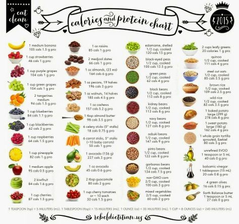 calories and protein chart healthy food recipes breakfast lunch