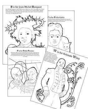 Abc Art History Coloring Pages Abc Art Art History Coloring Pages