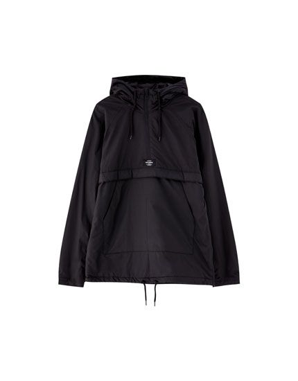 Hooded Jacket With Pouch Pocket Pull Bear Jackets Hooded Jacket Fashion