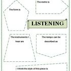 FREE DOWNLOAD: a one page worksheet designed to guide students responses after listening to a piece of music.