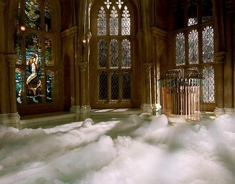 Prefects Bathroom (Hogwarts School Of Witchcraft and Wizardry) Mundo Harry Potter, Harry Potter World, Lily Evans, Wallpaper Harry Potter, Welcome To Hogwarts, Harry Potter Pictures, Slytherin Aesthetic, Goblet Of Fire, Hogwarts Mystery