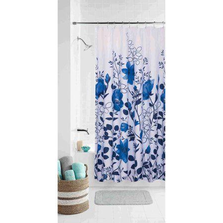 Home Blue Shower Curtains Shower Curtains Walmart Curtains