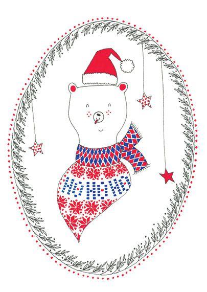 Carte de Noël avec un ourson mignon | Cards, Illustration, Christmas