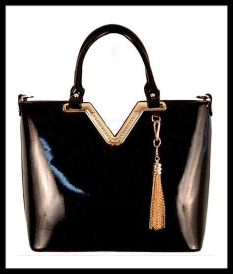 fbb14acb84 Black Patent Handbag - Sale! Up to 75% OFF! Shop at Stylizio for ...