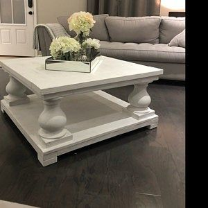 chunky balustrade coffee table legs