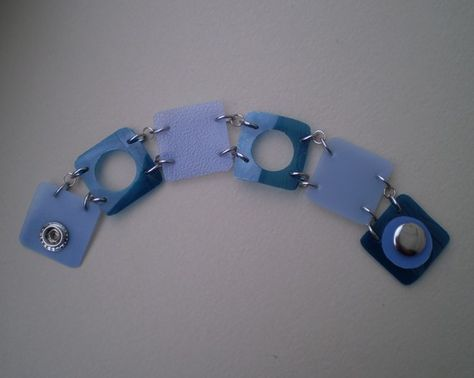 (Upcycled Milk Jug and Soda Bottle Bracelet)