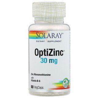 Solaray Optizinc 30 Mg 60 Vegcaps In 2020 Fluid And Electrolytes Zinc Supplements Energy Forms