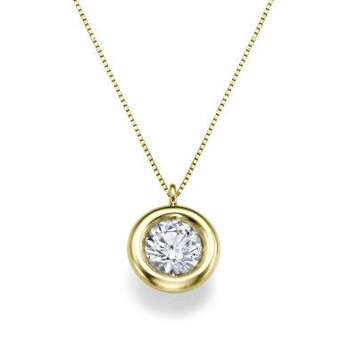 Bezel Pendant In White Gold 0 30ct Solitaire Diamond Pendant Diamond Pendant Dancing Diamond