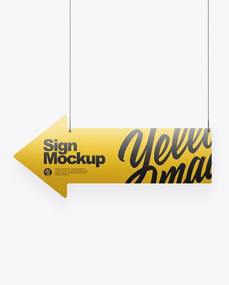 Metallic Arrow Sign Mockup In Object Mockups On Yellow Images Object Mockups In 2021 Sign Mockup Mockup Arrow Signs