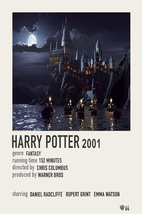 Simple Polaroid Movie Poster: Harry Potter