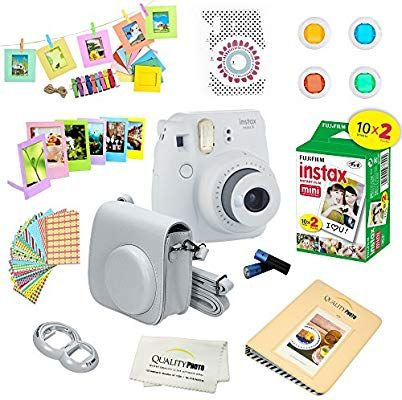 Amazon Com Fujifilm Instax Mini 9 Instant Camera Ice Blue W