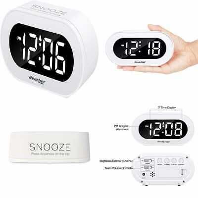 Small Led Digital Alarm Clock W Snooze Simple To Operate Full
